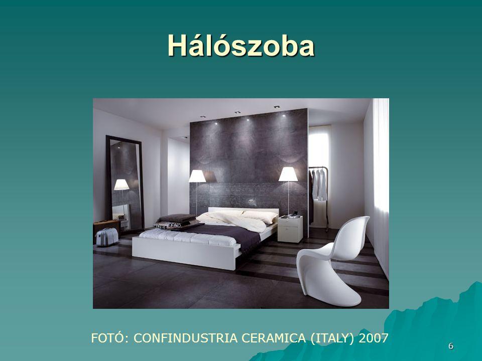 Hálószoba FOTÓ: CONFINDUSTRIA CERAMICA (ITALY) 2007