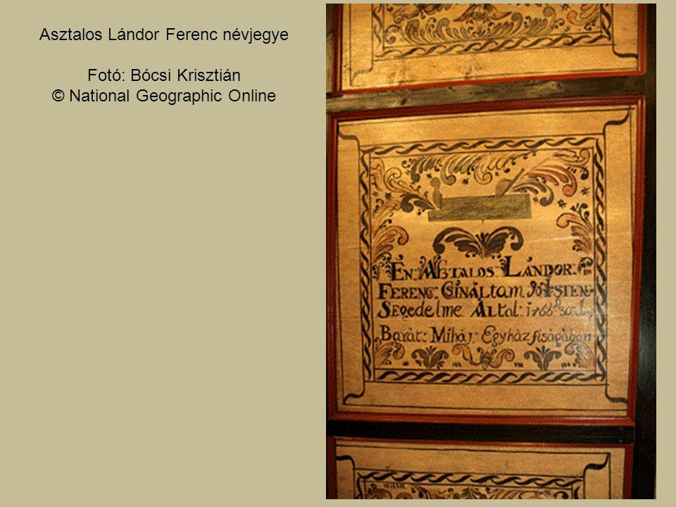 Asztalos Lándor Ferenc névjegye Fotó: Bócsi Krisztián © National Geographic Online