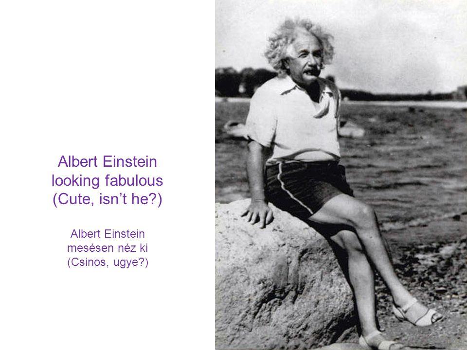 (Cute, isn't he ) Albert Einstein mesésen néz ki (Csinos, ugye )