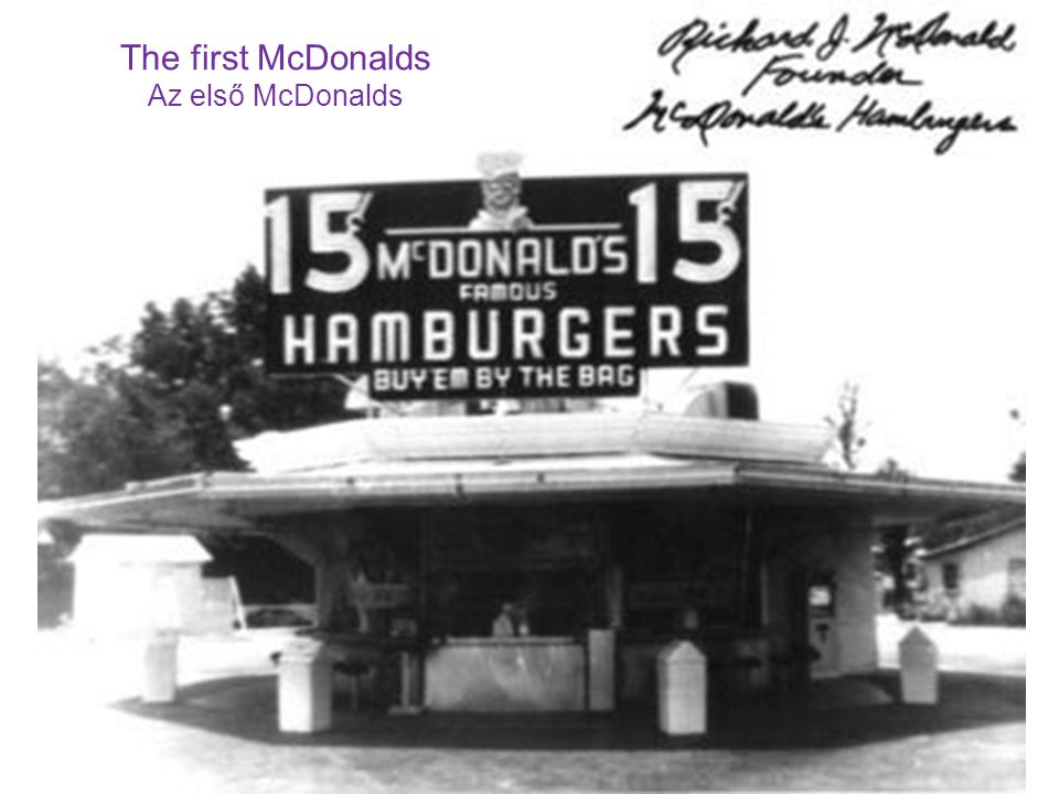 The first McDonalds Az első McDonalds