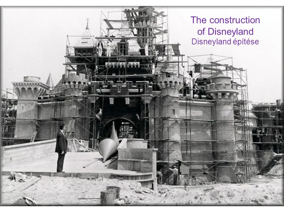 of Disneyland Disneyland építése
