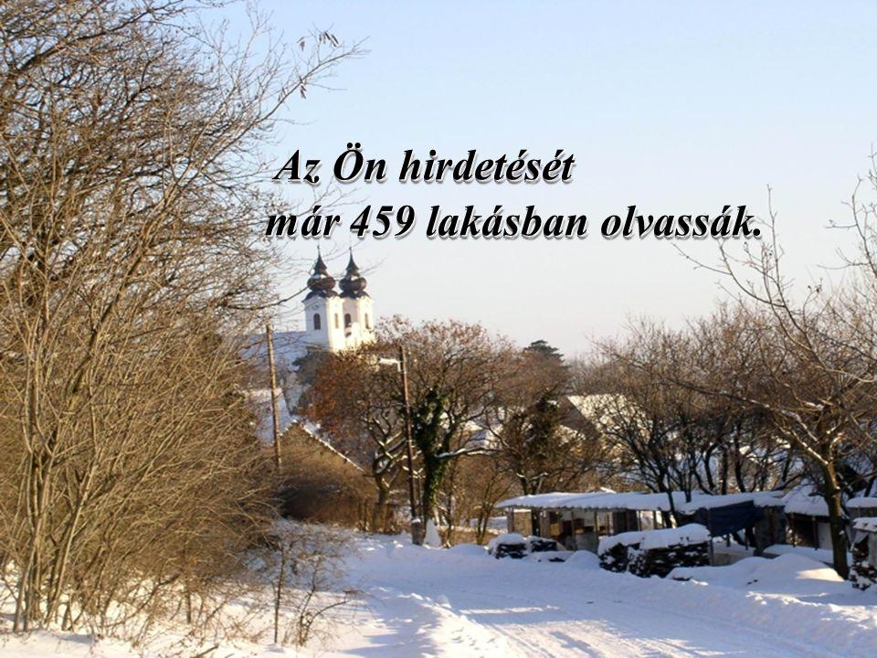 Az Ön hirdetését már 459 lakásban olvassák.