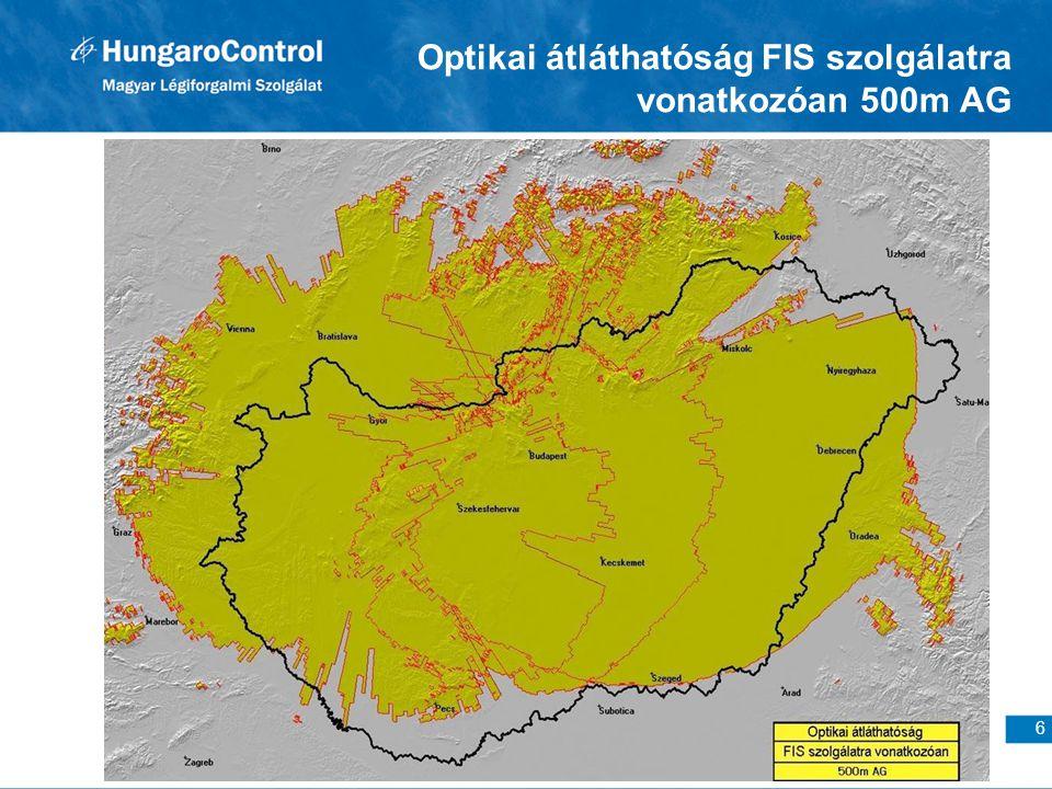 Optikai átláthatóság FIS szolgálatra vonatkozóan 500m AG