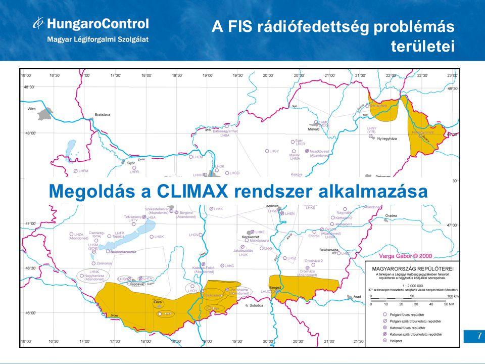 A FIS rádiófedettség problémás területei