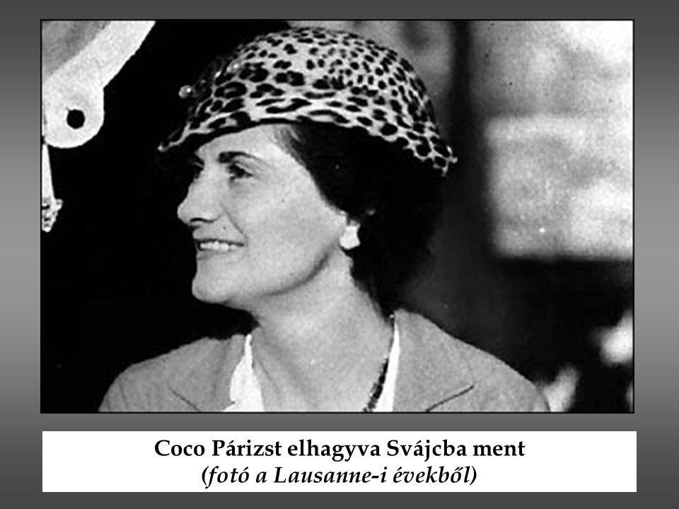Coco Párizst elhagyva Svájcba ment (fotó a Lausanne-i évekből)