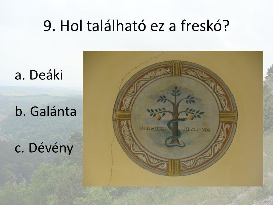 9. Hol található ez a freskó