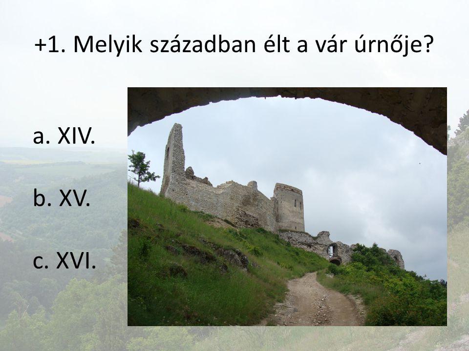 +1. Melyik században élt a vár úrnője