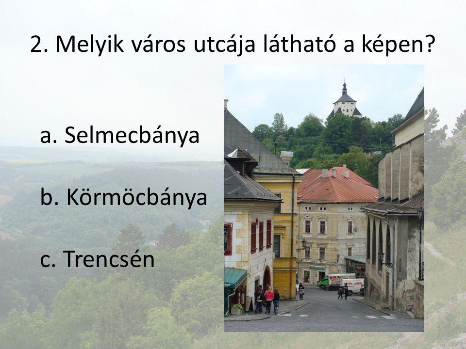 2. Melyik város utcája látható a képen