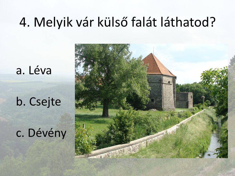 4. Melyik vár külső falát láthatod
