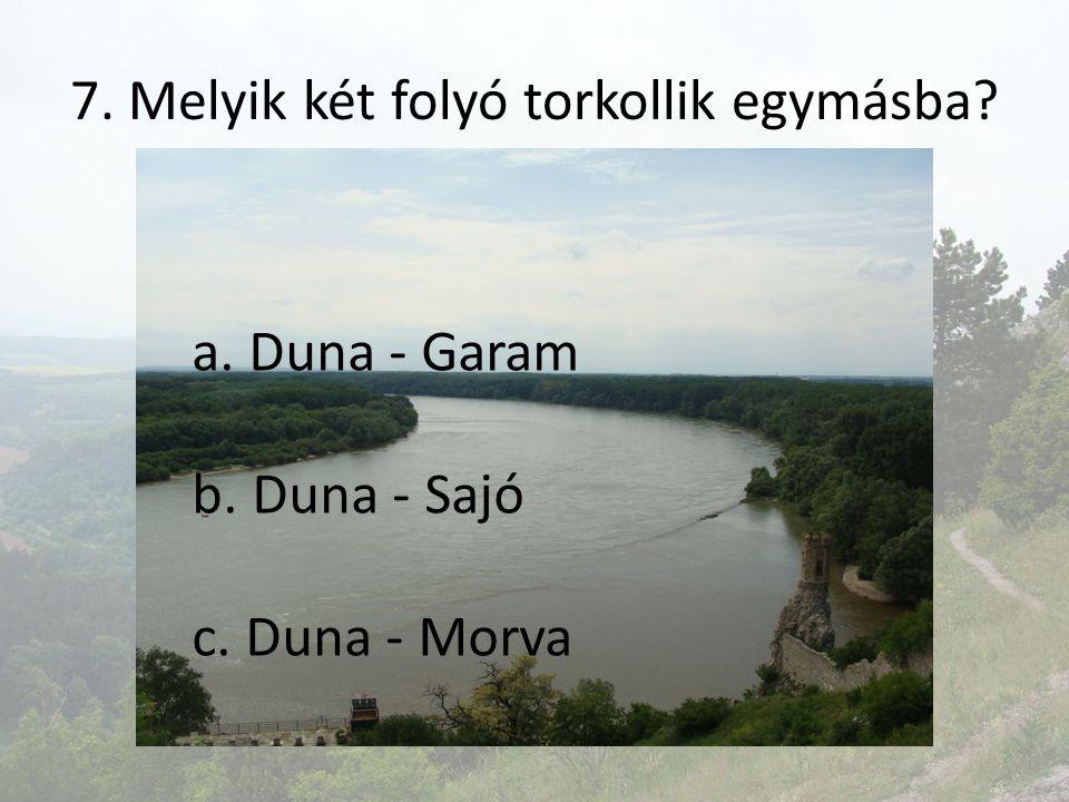 7. Melyik két folyó torkollik egymásba