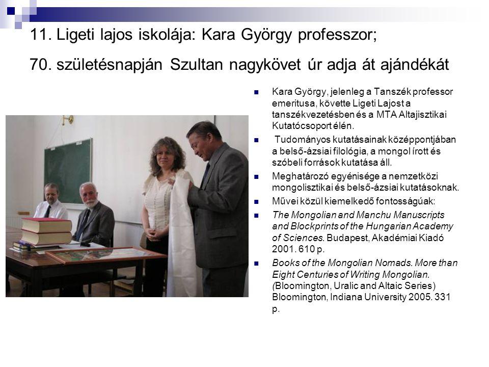 11. Ligeti lajos iskolája: Kara György professzor; 70