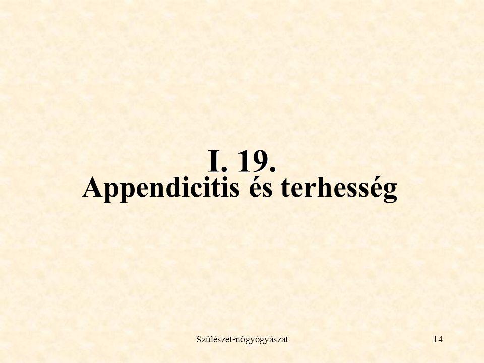 Appendicitis és terhesség