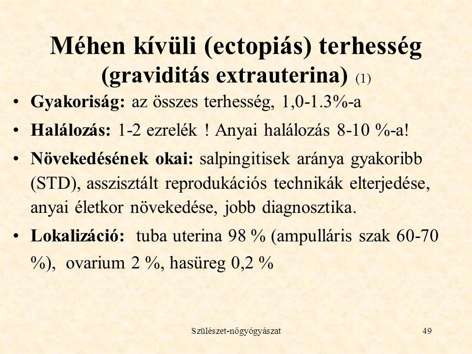 Méhen kívüli (ectopiás) terhesség (graviditás extrauterina) (1)
