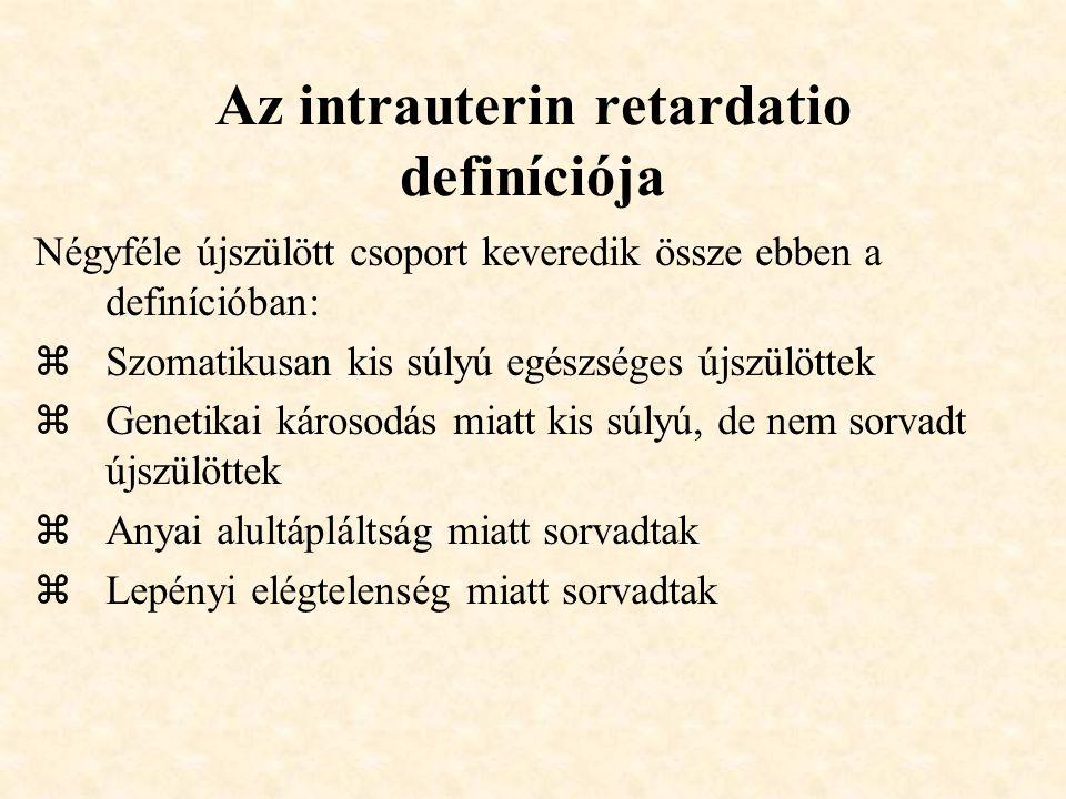Az intrauterin retardatio definíciója