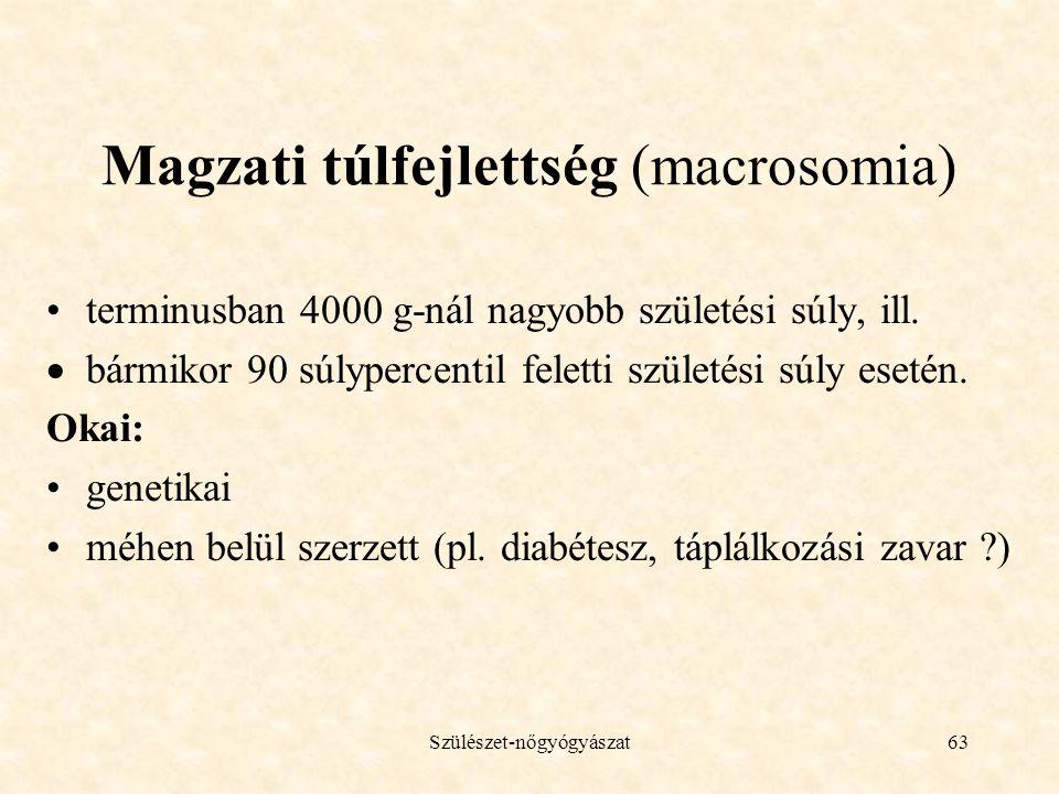 Magzati túlfejlettség (macrosomia)