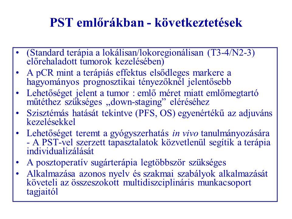 PST emlőrákban - következtetések