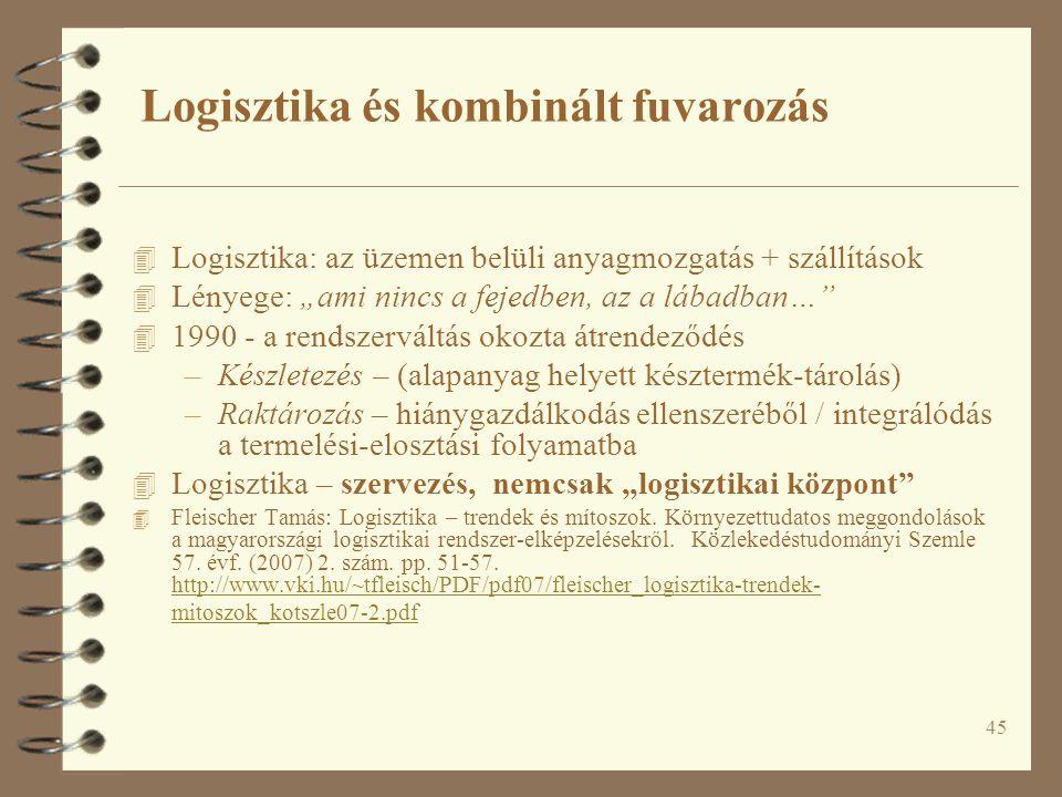 Logisztika és kombinált fuvarozás