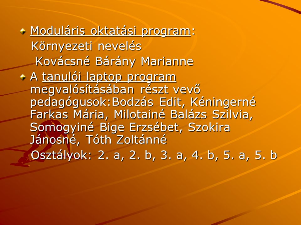 Moduláris oktatási program: