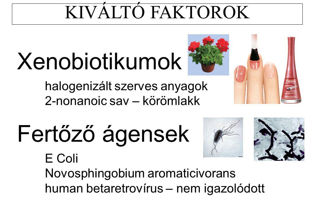 Xenobiotikumok Fertőző ágensek KIVÁLTÓ FAKTOROK
