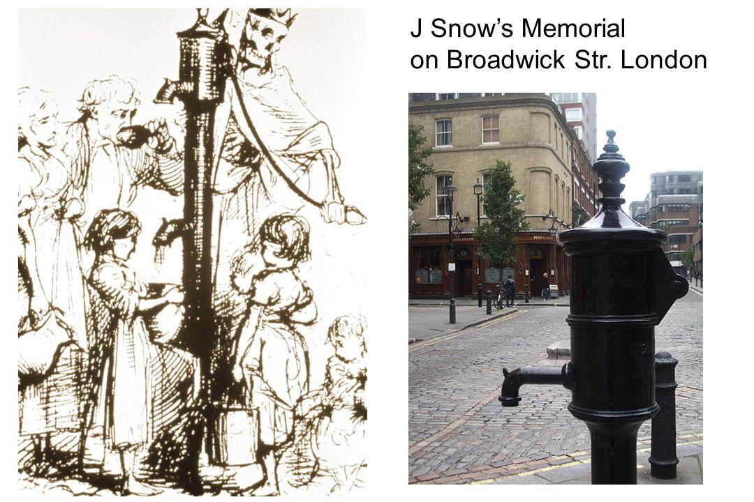 J Snow's Memorial on Broadwick Str. London