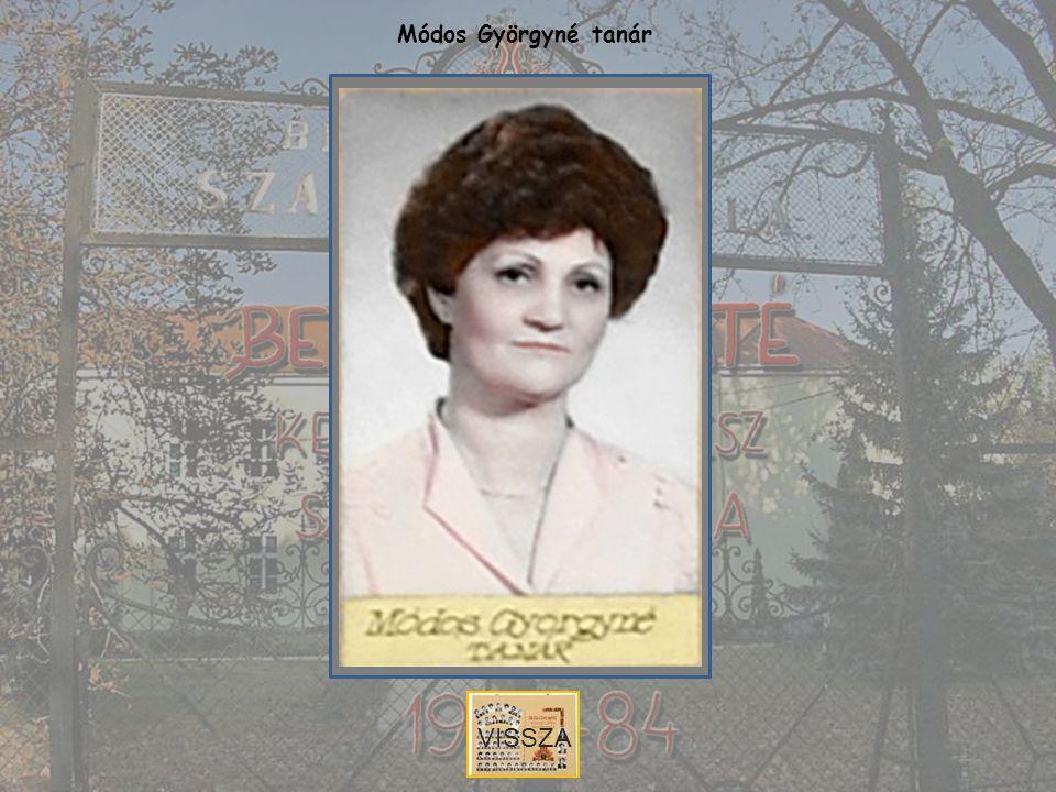 Módos Györgyné tanár VISSZA