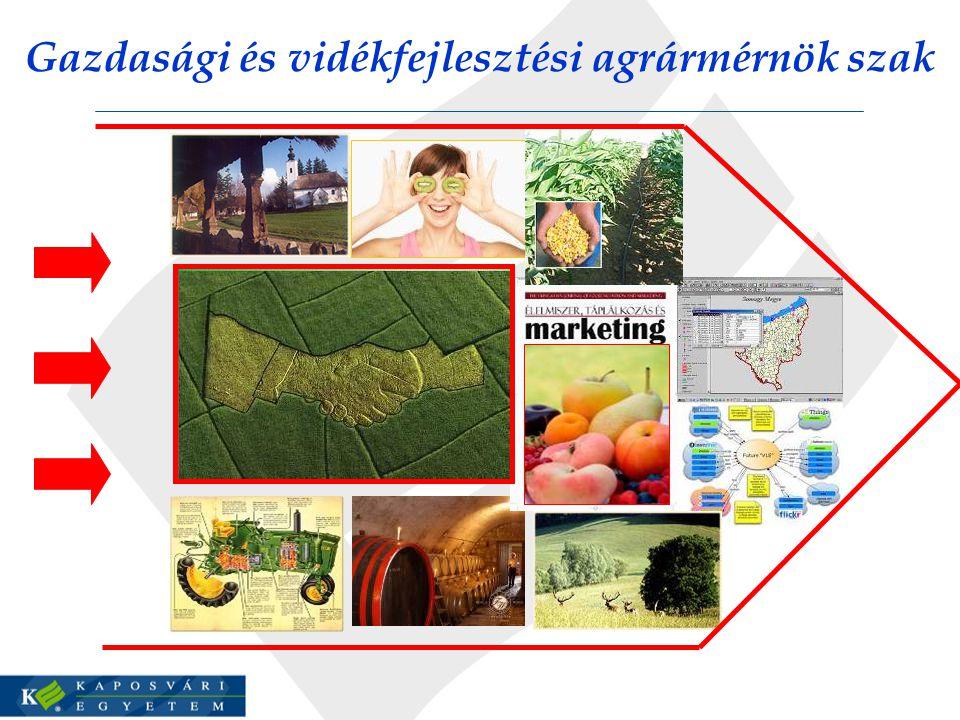 Gazdasági és vidékfejlesztési agrármérnök szak