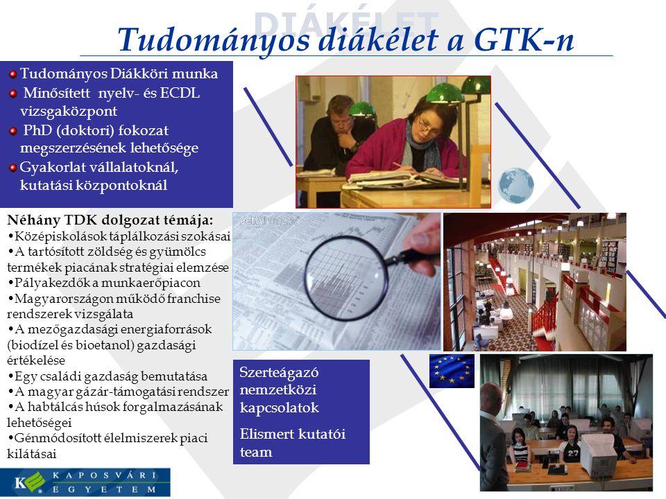 Tudományos diákélet a GTK-n