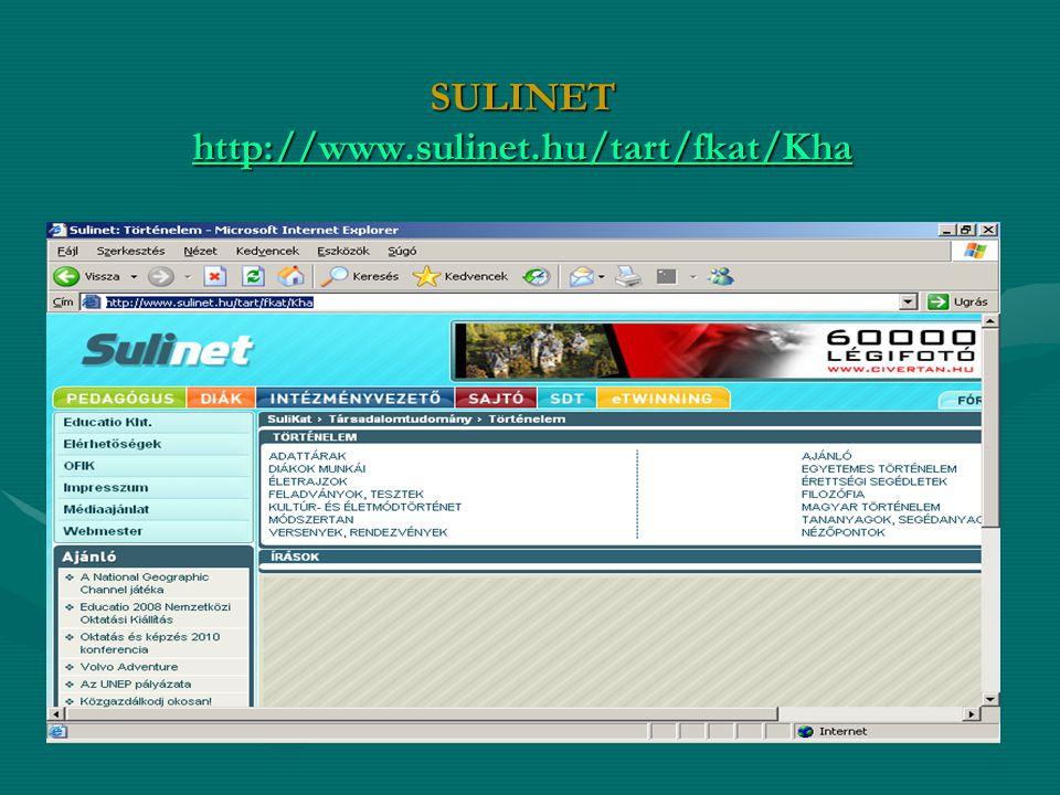 SULINET http://www.sulinet.hu/tart/fkat/Kha