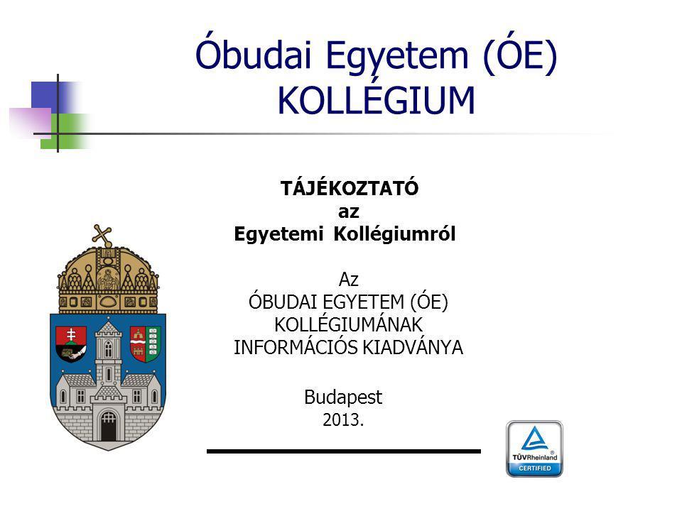 Óbudai Egyetem (ÓE) KOLLÉGIUM
