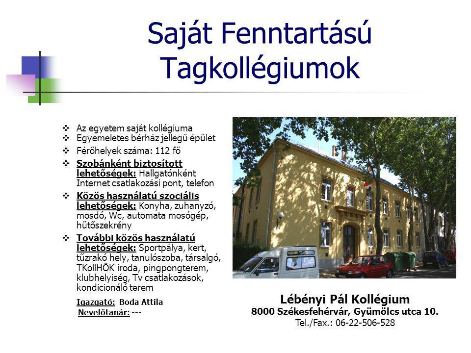 Saját Fenntartású Tagkollégiumok