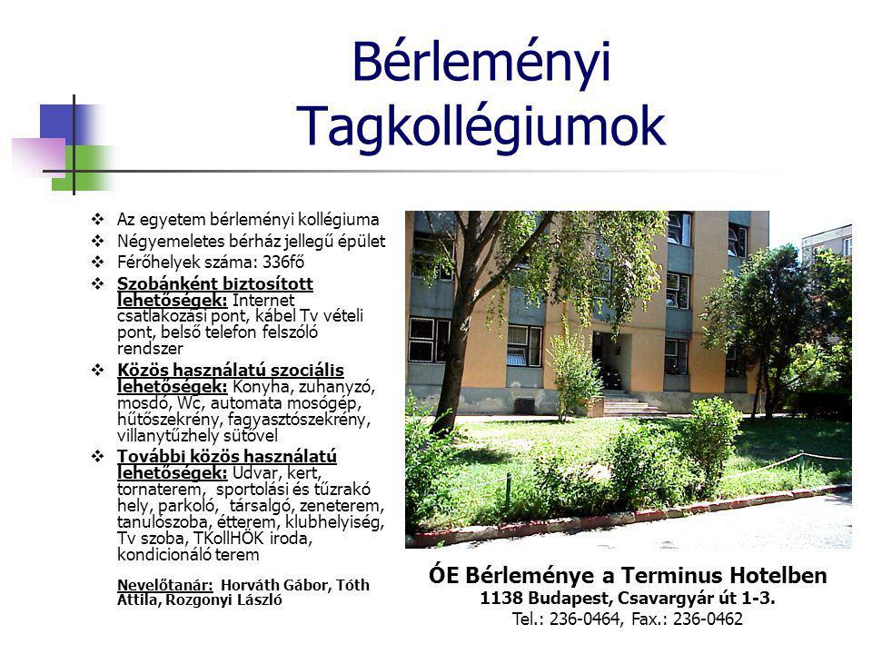 Bérleményi Tagkollégiumok