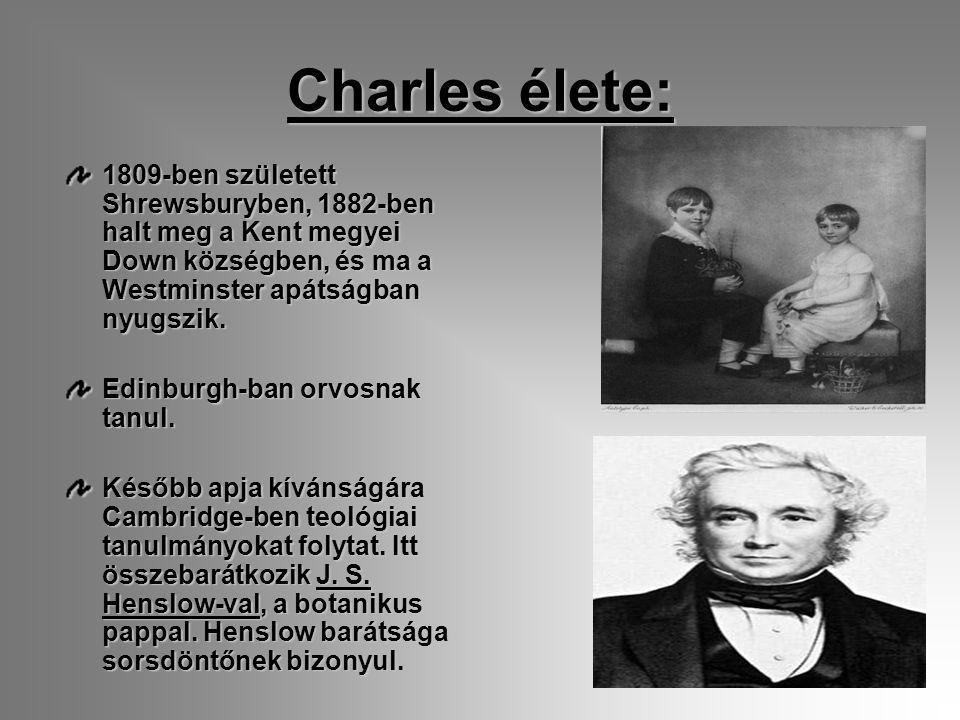 Charles élete: 1809-ben született Shrewsburyben, 1882-ben halt meg a Kent megyei Down községben, és ma a Westminster apátságban nyugszik.