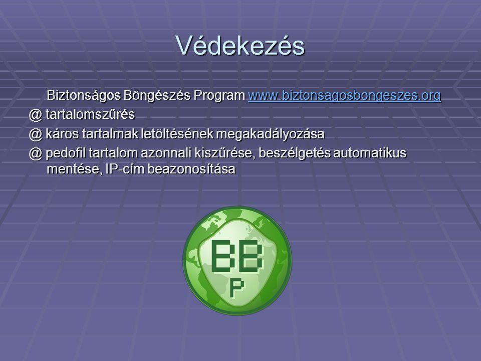 Védekezés Biztonságos Böngészés Program www.biztonsagosbongeszes.org