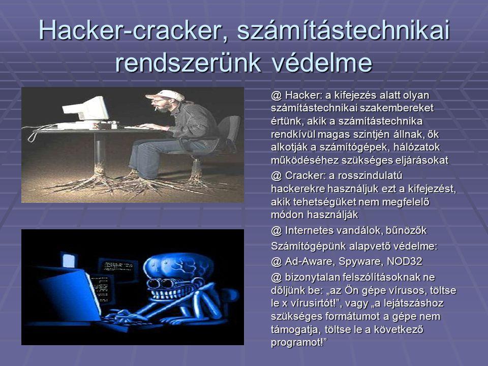 Hacker-cracker, számítástechnikai rendszerünk védelme