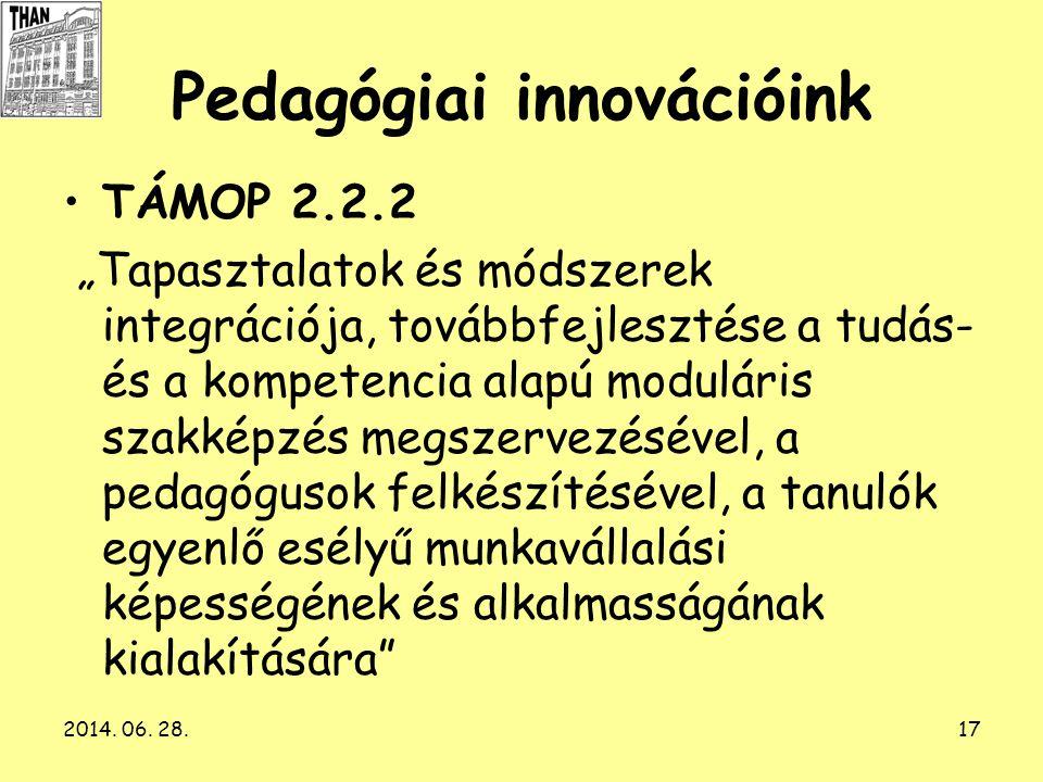 Pedagógiai innovációink