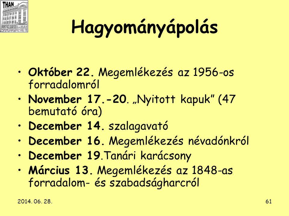 Hagyományápolás Október 22. Megemlékezés az 1956-os forradalomról