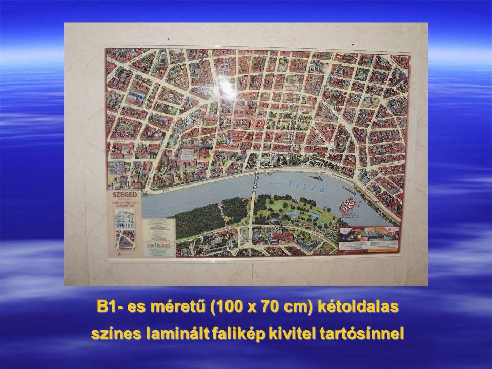 B1- es méretű (100 x 70 cm) kétoldalas