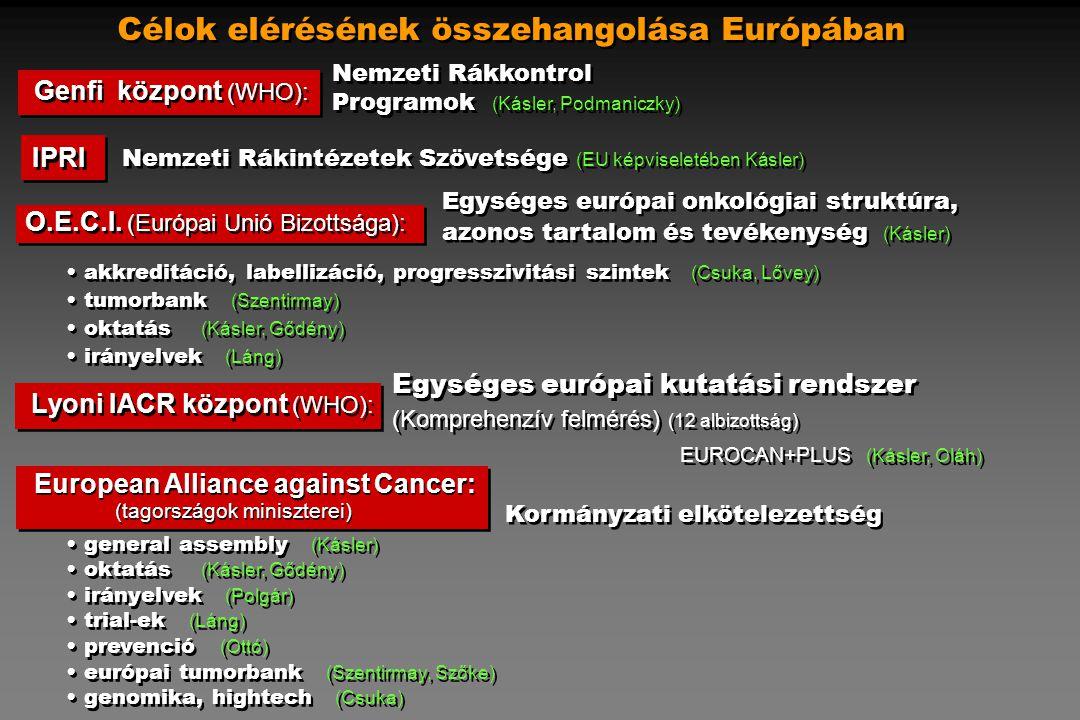 Célok elérésének összehangolása Európában