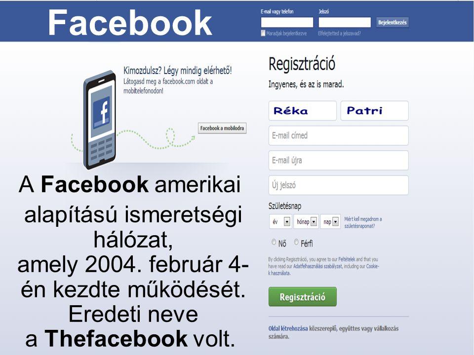 Facebook A Facebook amerikai