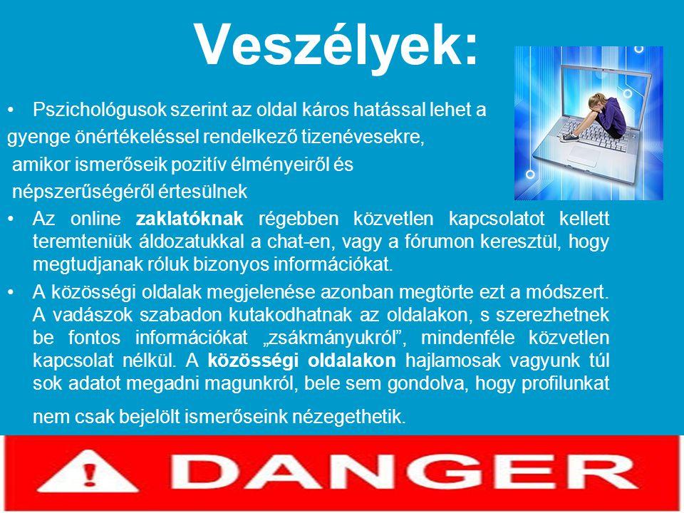 Veszélyek: Pszichológusok szerint az oldal káros hatással lehet a