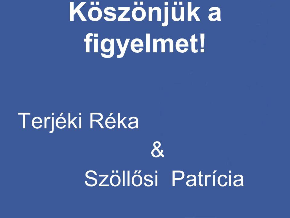 Köszönjük a figyelmet! Terjéki Réka & Szöllősi Patrícia