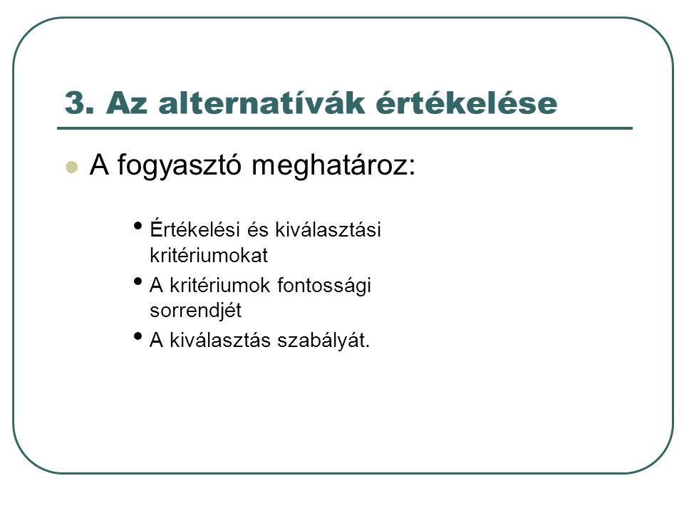 3. Az alternatívák értékelése