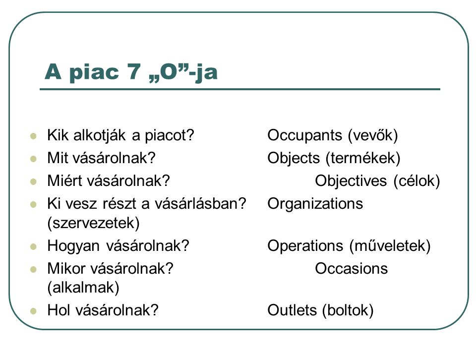 7 os occupants objects objectives organizations 7 os: occupants, objects, objectives, organizations, operations, occasions,  outletss  reference groups influence a person's behavior directly or indirectly.