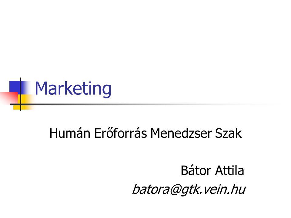 Humán Erőforrás Menedzser Szak Bátor Attila batora@gtk.vein.hu