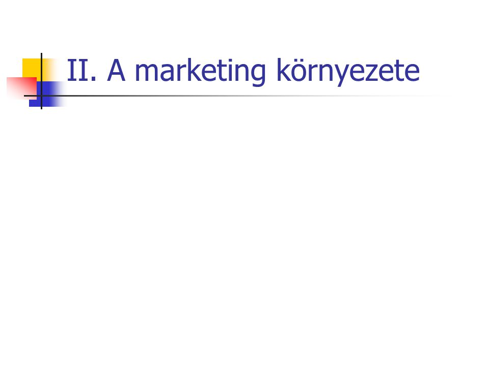 II. A marketing környezete