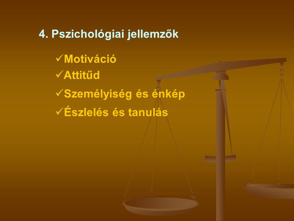 4. Pszichológiai jellemzők
