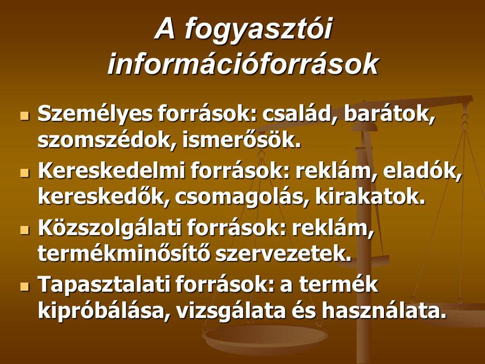 A fogyasztói információforrások