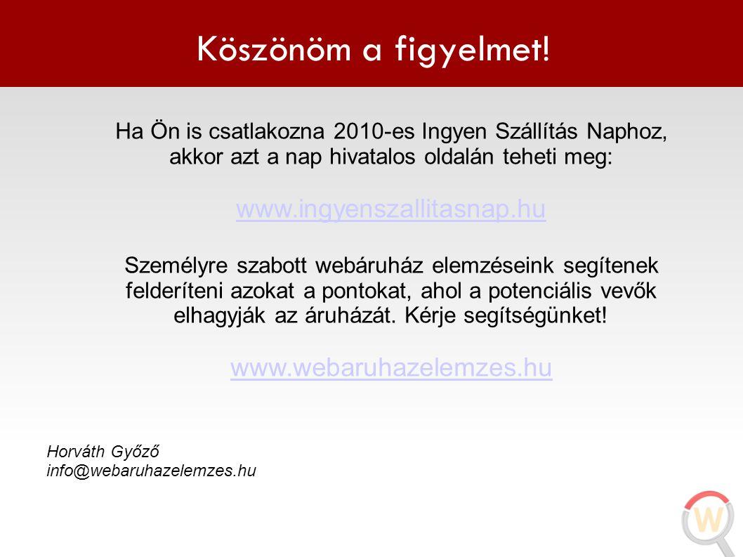 Köszönöm a figyelmet! www.ingyenszallitasnap.hu