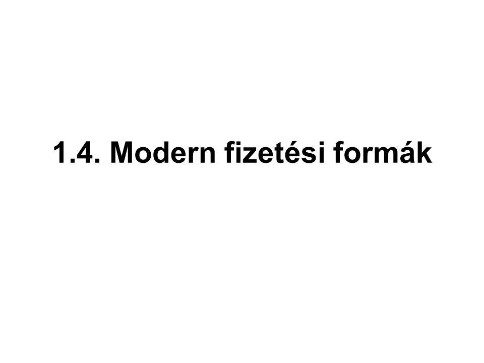 1.4. Modern fizetési formák