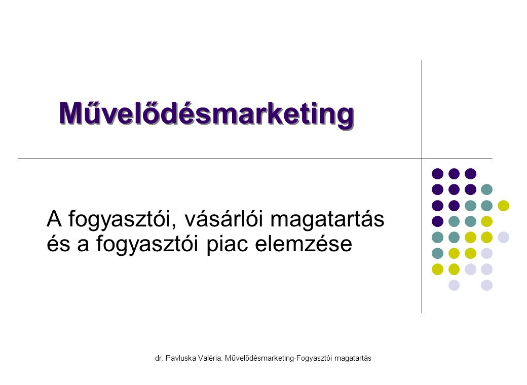 A fogyasztói, vásárlói magatartás és a fogyasztói piac elemzése